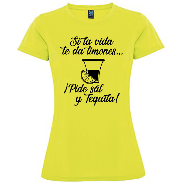Camiseta Pide sal y tequila
