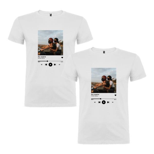 2 Camisetas Canción Favorita Pareja