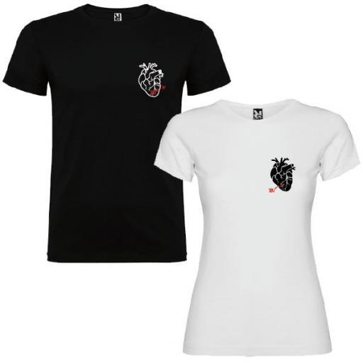 2 Camisetas Corazón Real Personalizadas