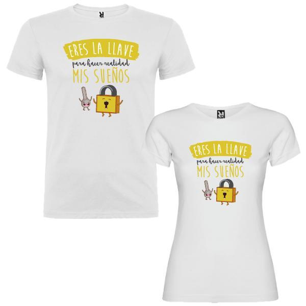 2 Camisetas Destino Estar Siempre Juntos Pareja