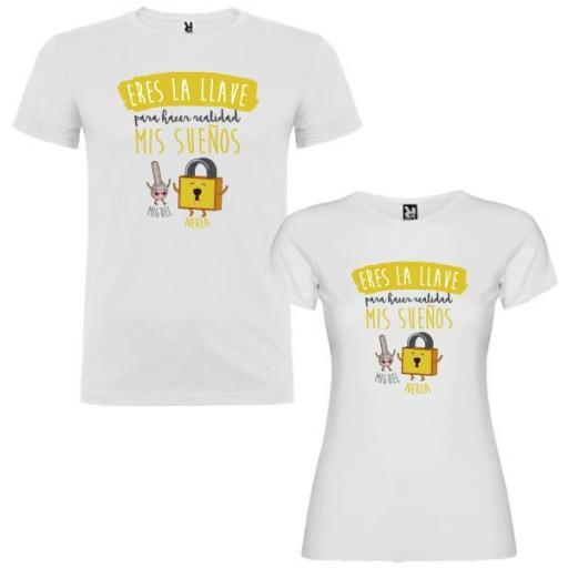 2 Camisetas Destino Estar Siempre Juntos Pareja [1]