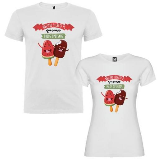 2 Camisetas Secreto Polos Opuestos Pareja