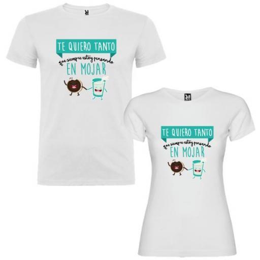 2 Camisetas Siempre Pensando en Mojar Pareja