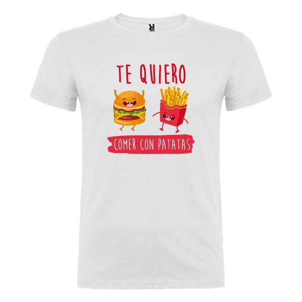 Camiseta Te Quiero Comer con Patatas (Hombre)