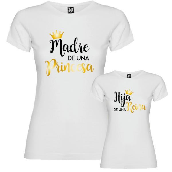 2 Camisetas Reina y Princesa (Madre e Hija)