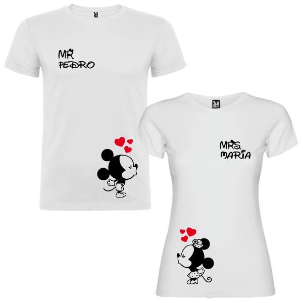 2 Camisetas Mickey and Minnie Mouse Pareja