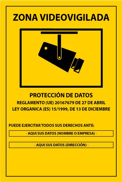 Cartel cámaras de seguridad