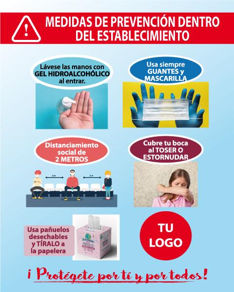 Cartel medidas de prevención
