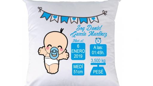 Cojín nacimiento niño