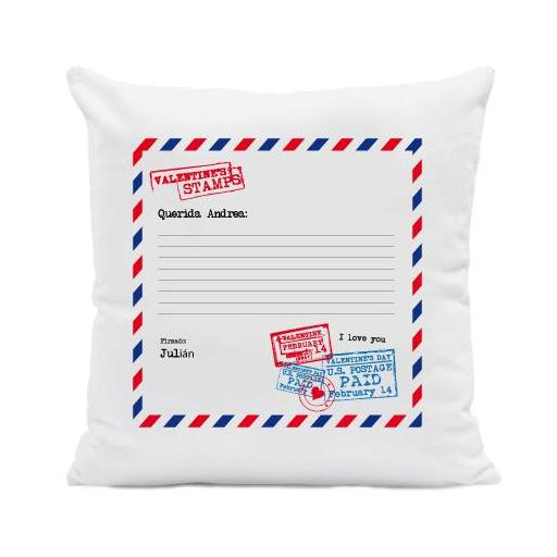 Cojín Carta Romántica Personalizada [0]