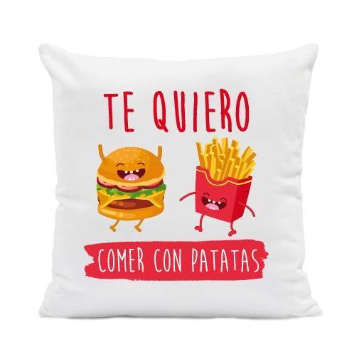 Cojín Te Quiero Comer con Patatas