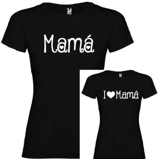 2 Camisetas Mama, I Love Mama (NIÑA) [1]