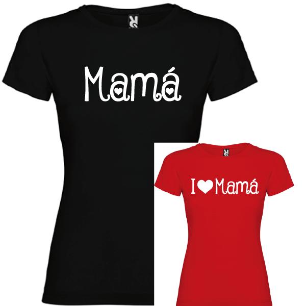 2 Camisetas Mama, I Love Mama (NIÑA)