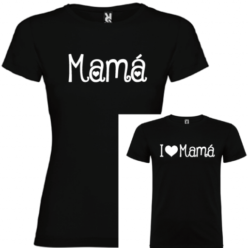2 Camisetas Mama, I Love Mama (NIÑO) [1]
