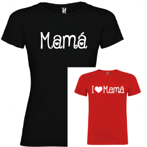2 Camisetas Mama, I Love Mama (NIÑO)
