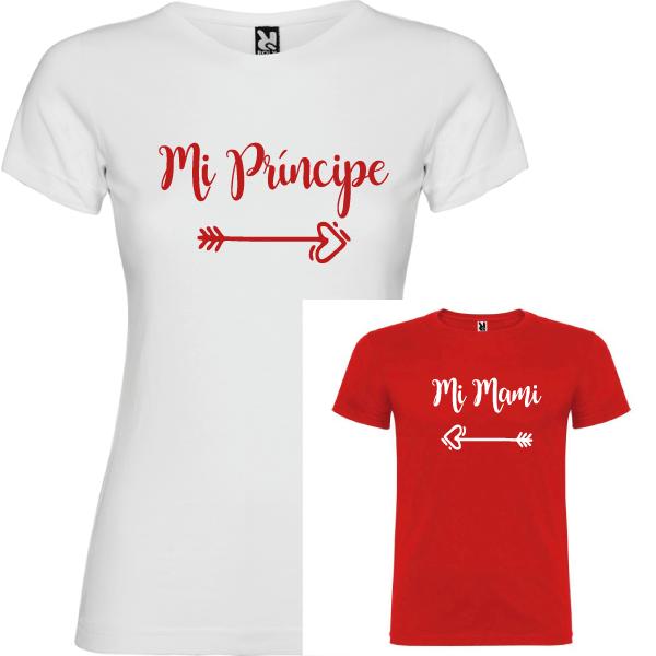 2 Camisetas Mi príncipe, Mi mami