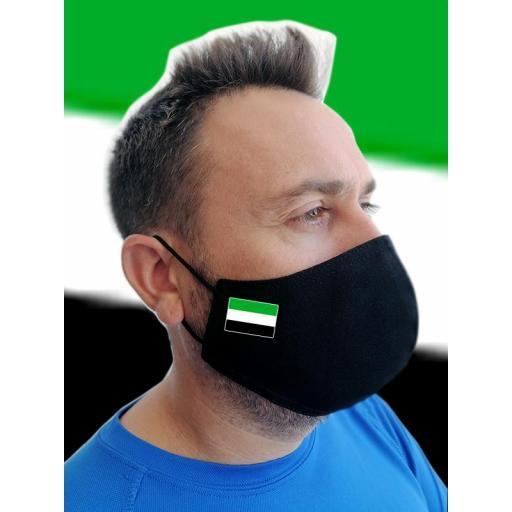 Mascarilla negra con bandera personalizada [2]
