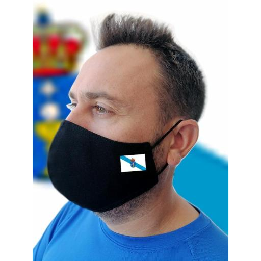 Mascarilla negra con bandera personalizada [1]
