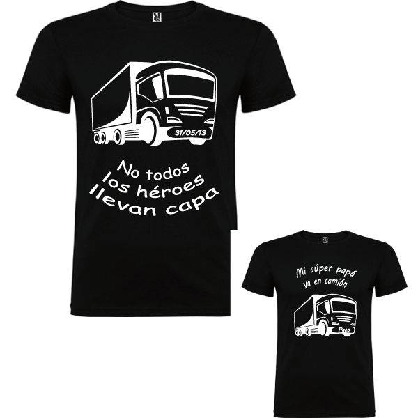 2 camisetas Papa Camión