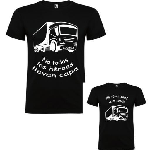 2 camisetas Papa Camión [0]