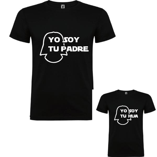 2 Camisetas Soy Tu Padre