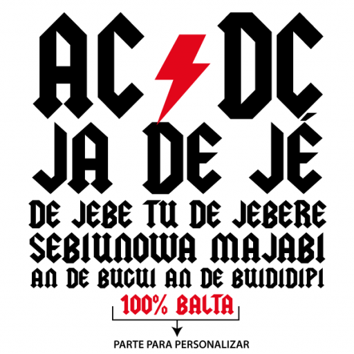 Camiseta AC DC Ja de je - modelo hombre y mujer [3]