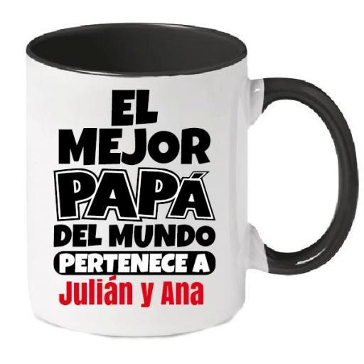 Taza Personalizada El Mejor Papá del Mundo Pertenece A...