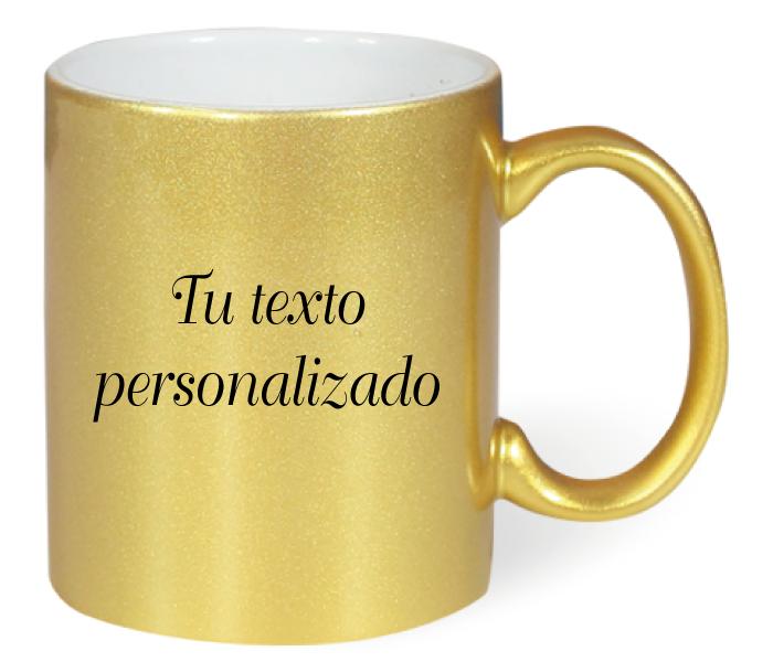 Taza Dorada personalizable
