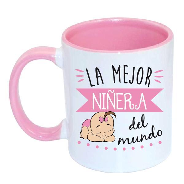 Taza Rosa La Mejor Niñera del Mundo