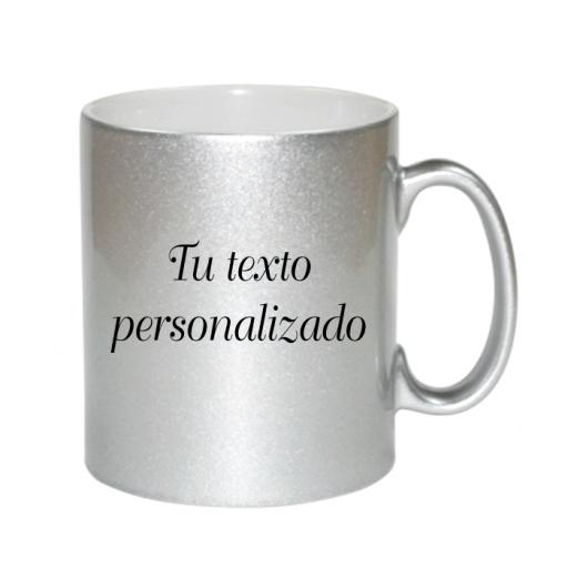 Taza Plateada personalizable