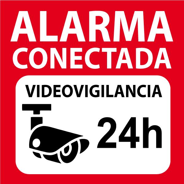 Vinilo alarma conectada (para pegar por fuera)