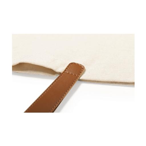 Bolso Algodón asa de piel personalizado con inicial (Flores II) [1]