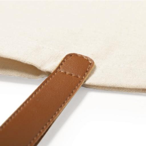 Bolso Algodón asa de piel personalizado con nombre [2]