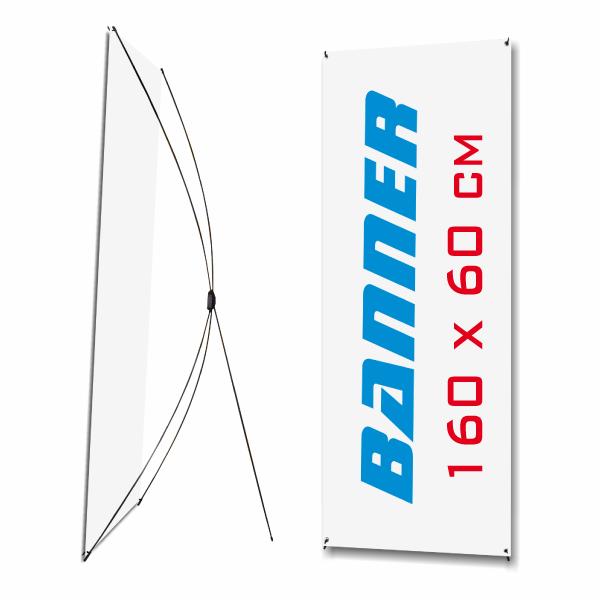 X-Baneer 160x60cm con gráfica y funda de tela