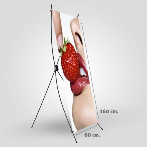 X-Baneer 160x60cm con gráfica y funda de tela [1]
