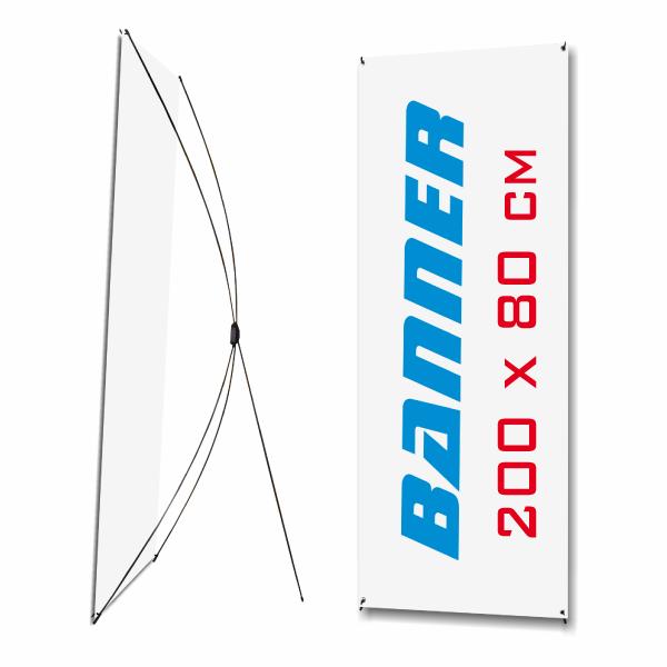 X-Baneer 200x80cm con gráfica y funda de tela