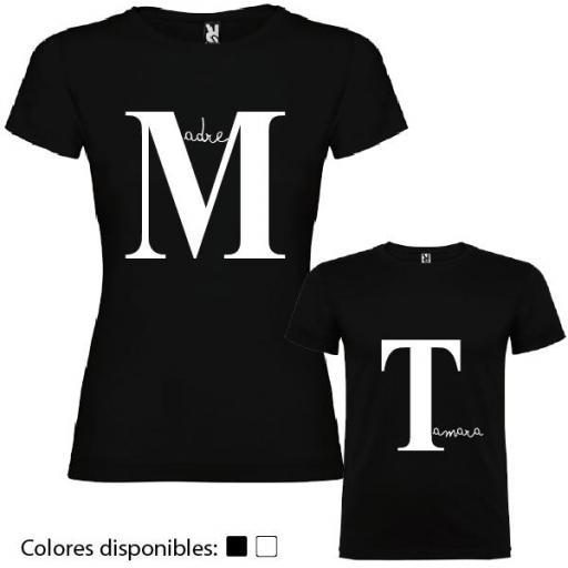 2 Camisetas Madre e Hij@ Iniciales Personalizadas [1]