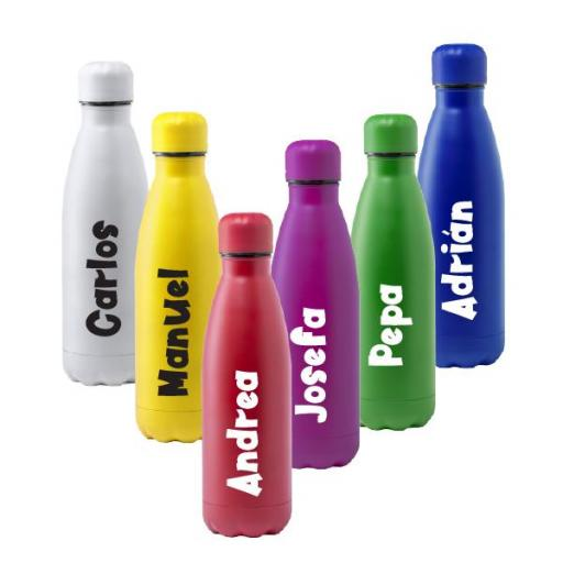 Botella Acero Colores Personalizada con Nombre