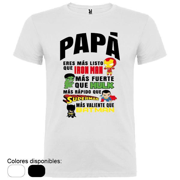 Camiseta Papá Superhéroes