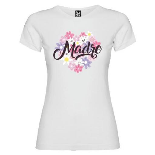 Camiseta Corazón Flores Madre