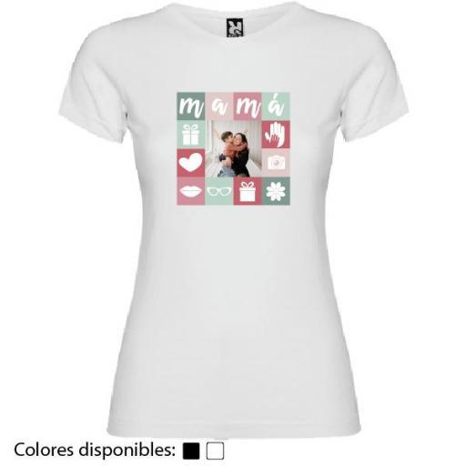 Camiseta Madre Personalizada Fotos Collage