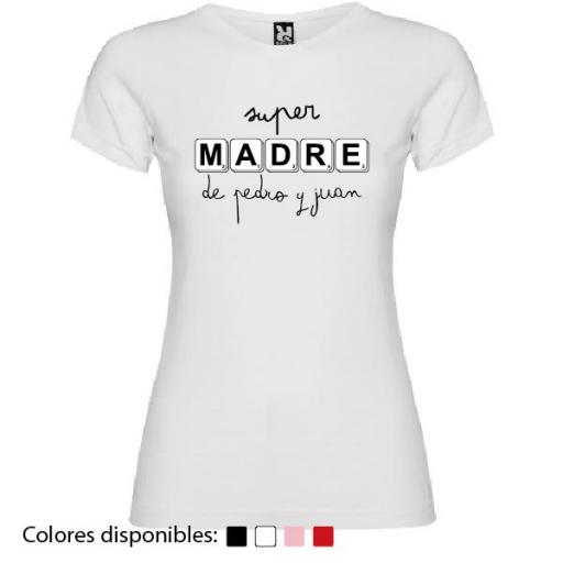Camiseta Personalizada Super Madre De... [1]