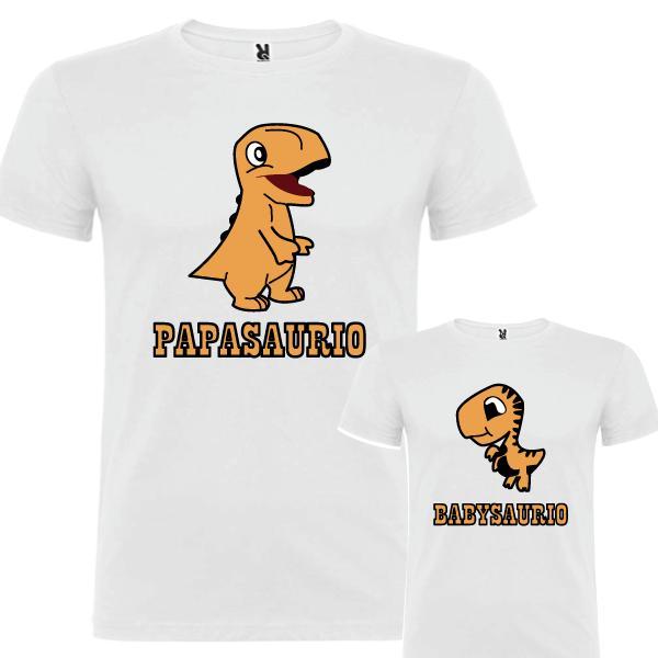 2 Camisetas Dinosaurio (Padre e Hijo)