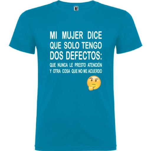 Camiseta Tengo dos defectos [3]