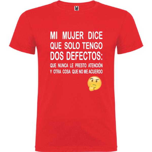 Camiseta Tengo dos defectos