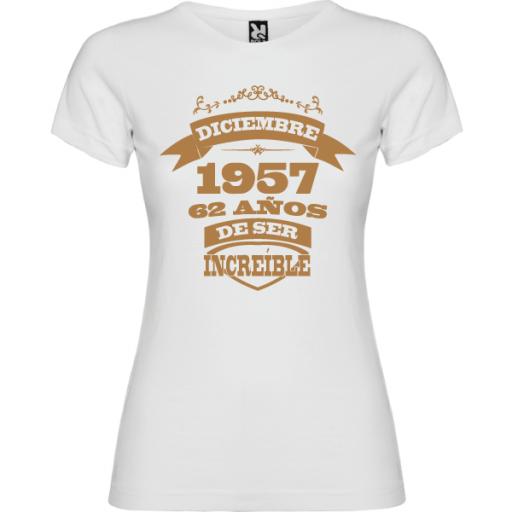Camiseta Mujer Años de ser increíble [1]