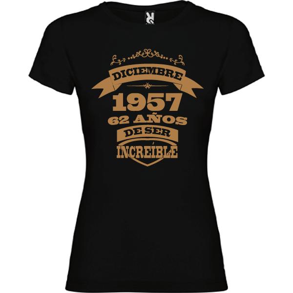 Camiseta Mujer Años de ser increíble