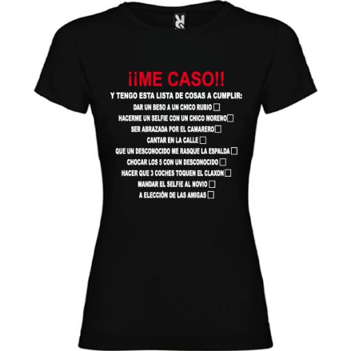Camiseta Me caso [2]