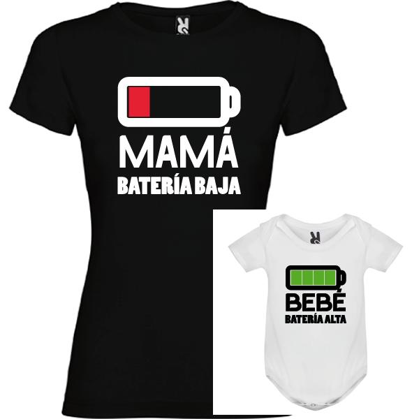 1 camiseta negra con body Batería