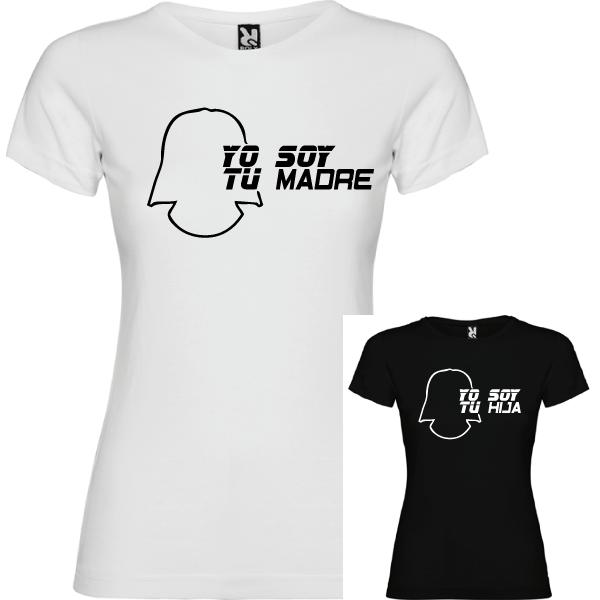 2 Camisetas Soy Tu Madre